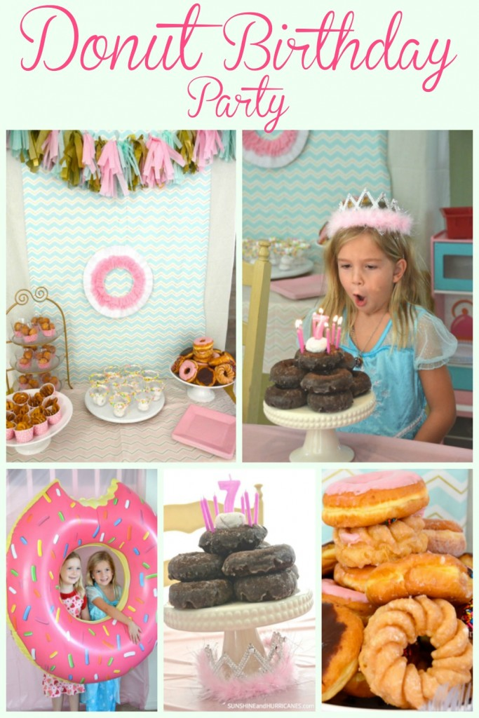 Need a fun, sweet, and simple birthday party idea? Try a Donut Birthday Party For Kids! This unique party theme is a hit with kids and tweens and includes a cute craft! Simple ideas to help you create a low stress doughnut birthday  party.