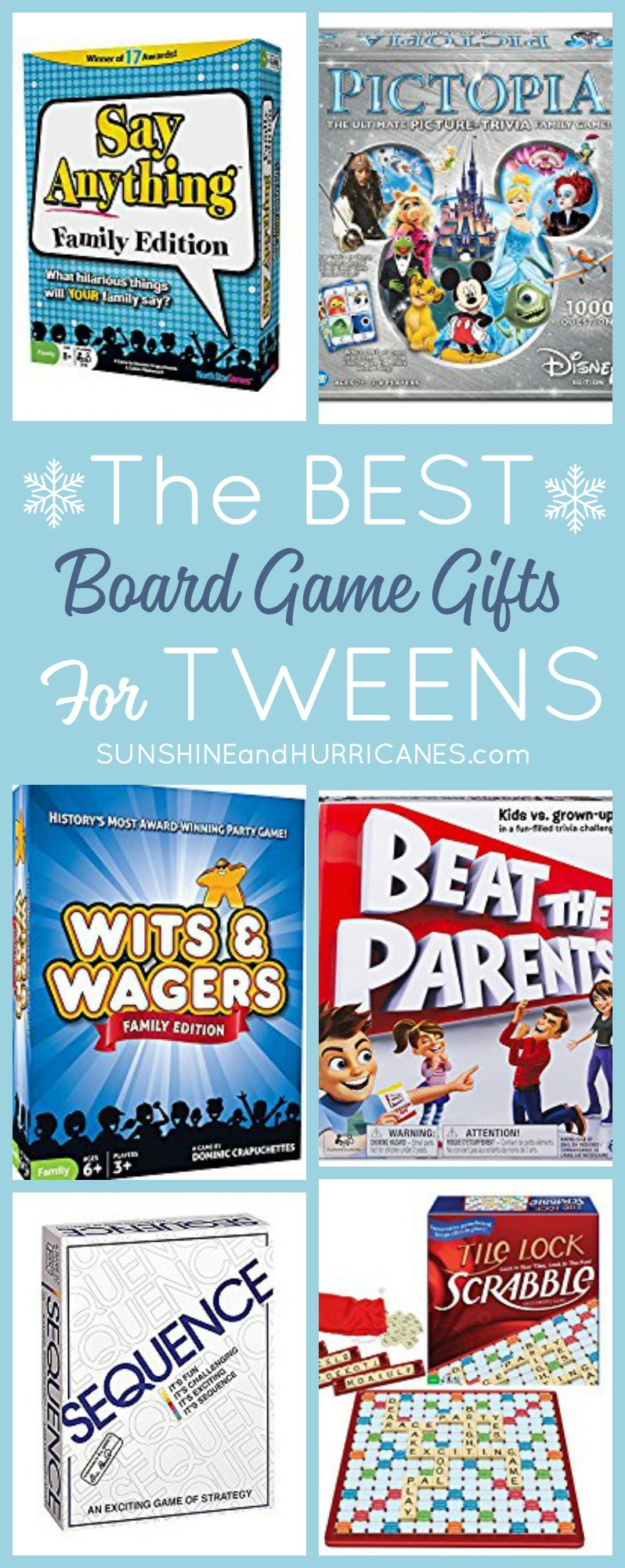 Looking for a great gift idea for your tween? These Board Games for Tweens were chosen by tweens and are sure to be a hit for holiday or birthday gifts.