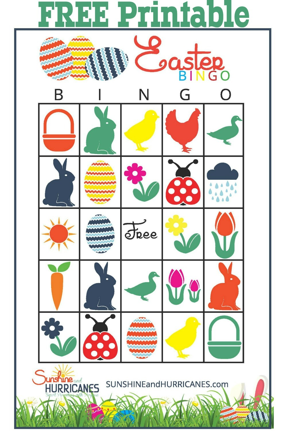 Magic image for free printable easter bingo cards