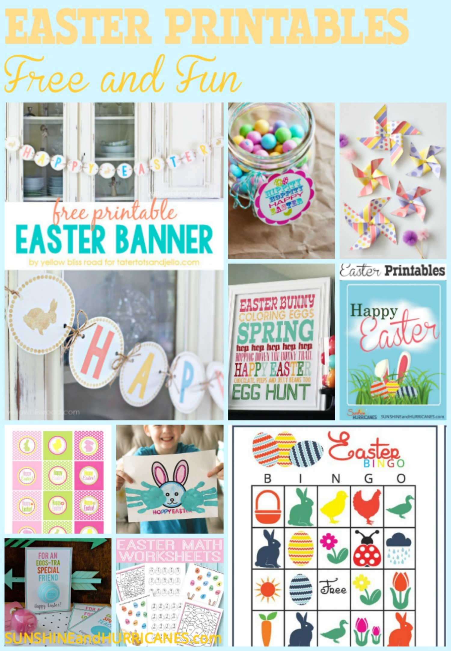 A round up of teh BEST Easter Printables from around the web, these fabulous and FREE ideas are perfect for your home or the classroom! From games and activities to home decor, you'll discover the easy way to add pop to your Easter holiday! Dozens of ideas, all FREE!