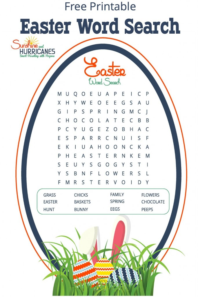 Looking for a great activity for a school Easter party, a home school project or even just a family gathering with lots of kids? This Easter Word Search will send kids hunting for words rather than eggs and provide plenty of entertainment. Easter Word Search Free Printable SunshineandHurricanes.com
