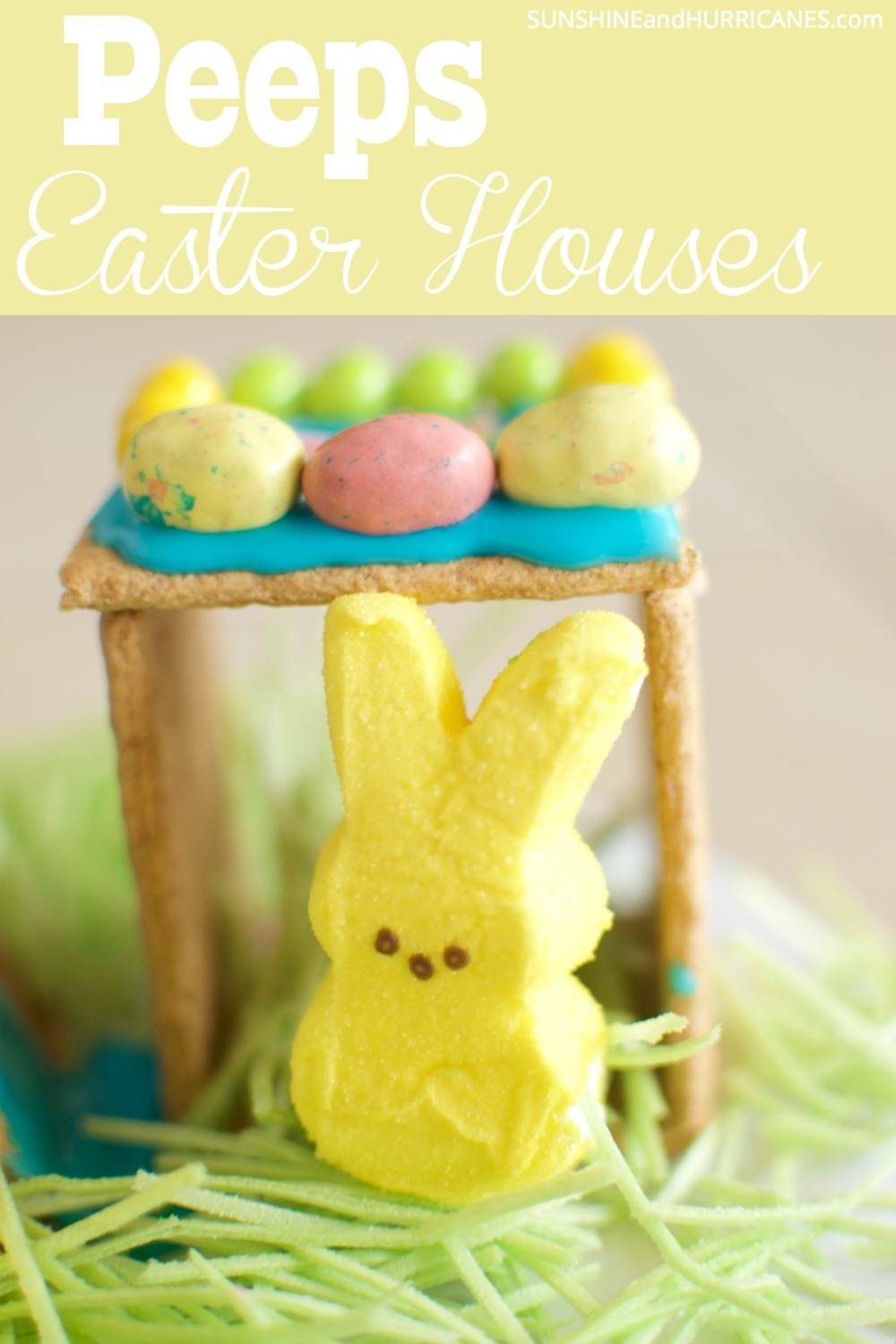Looking for a fun Easter activity for you kids? These adorable Peeps houses are easy to make and can keep kids busy for hours. They'll be able to use their creativity coming up with a whole little neighborhood for their Peeps and then use their imaginations to have all the Peeps playing together. A great way to use extra Easter candy. Peeps Easter Houses. SunshineandHurricanes.com