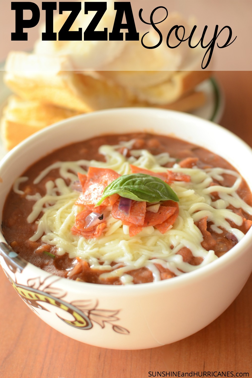 Do your kids love pizza? Then this recipe for pizza soup is sure to be a hit. A fast family dinner that will please even the pickiest of eaters, but with a secret ingredient that makes it healthier and makes mom happy. Pizza Soup. SunshineandHurricanes.com