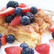French Toast Casserole with Mixed Berries