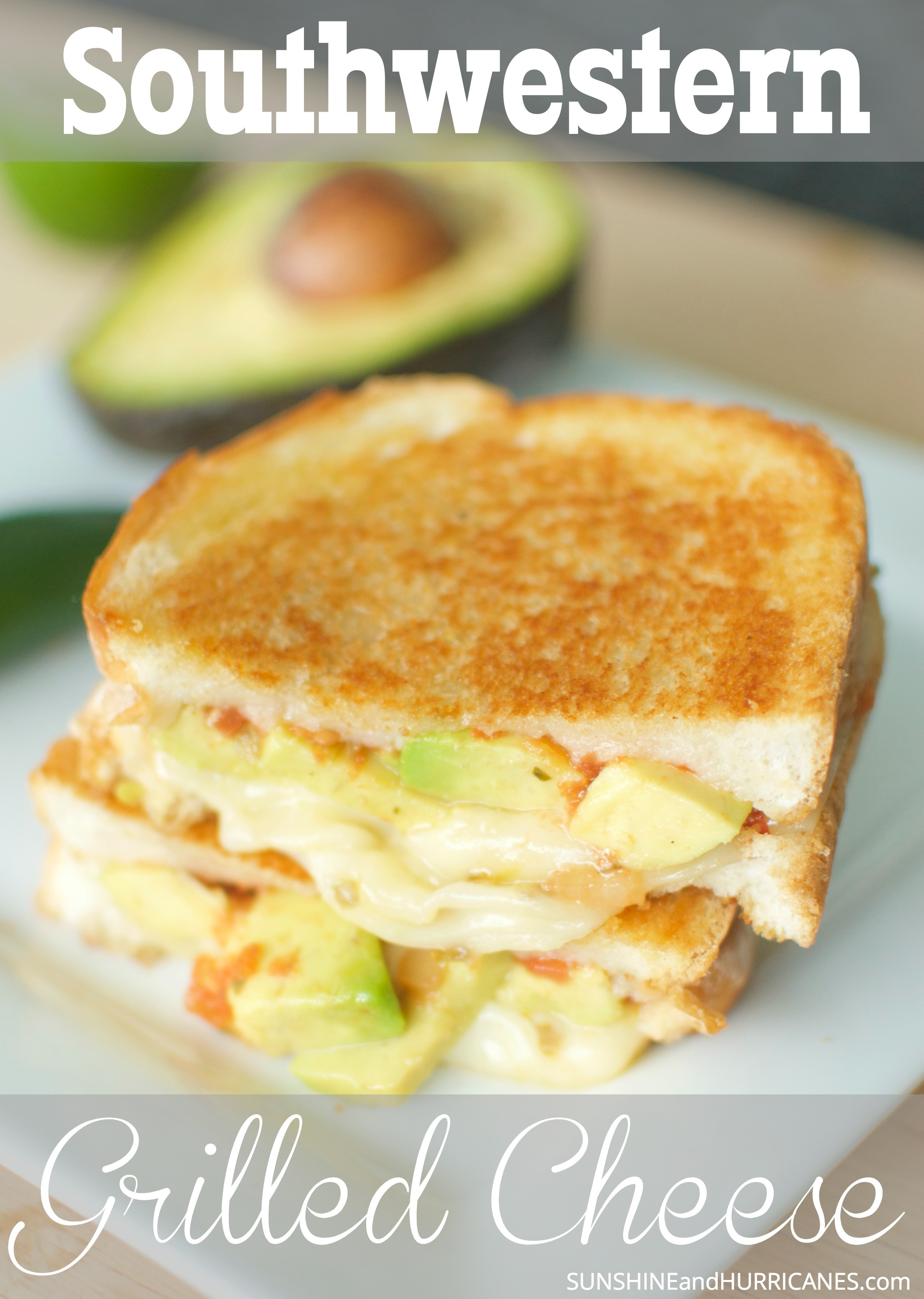 Do you love grilled cheese sandwiches. How about Mexican and Southwestern food? Well, we've got the PERFECT recipe for you. This new twist on a traditional favorite is full of flavor. Delicious, cheesy and with just a little kick is grilled cheese taken up a notch. Southwestern Style Grilled Cheese from SunshineandHurricanes.com