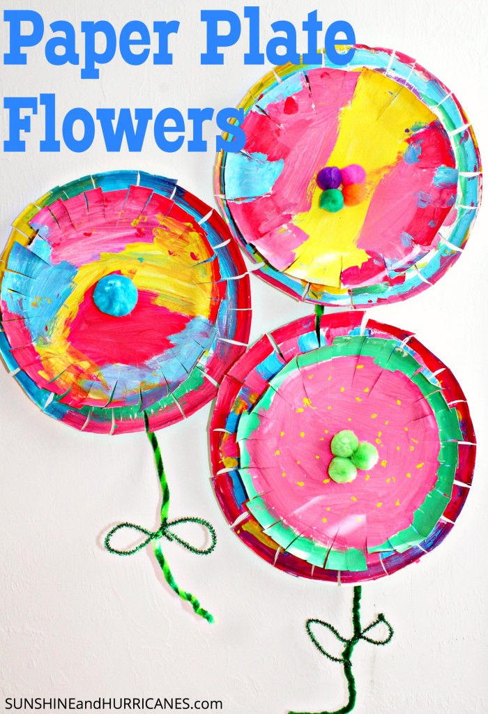 Paper plate flowers these bright and easy to make paper plate flowers are a quick craft for kids of mightylinksfo