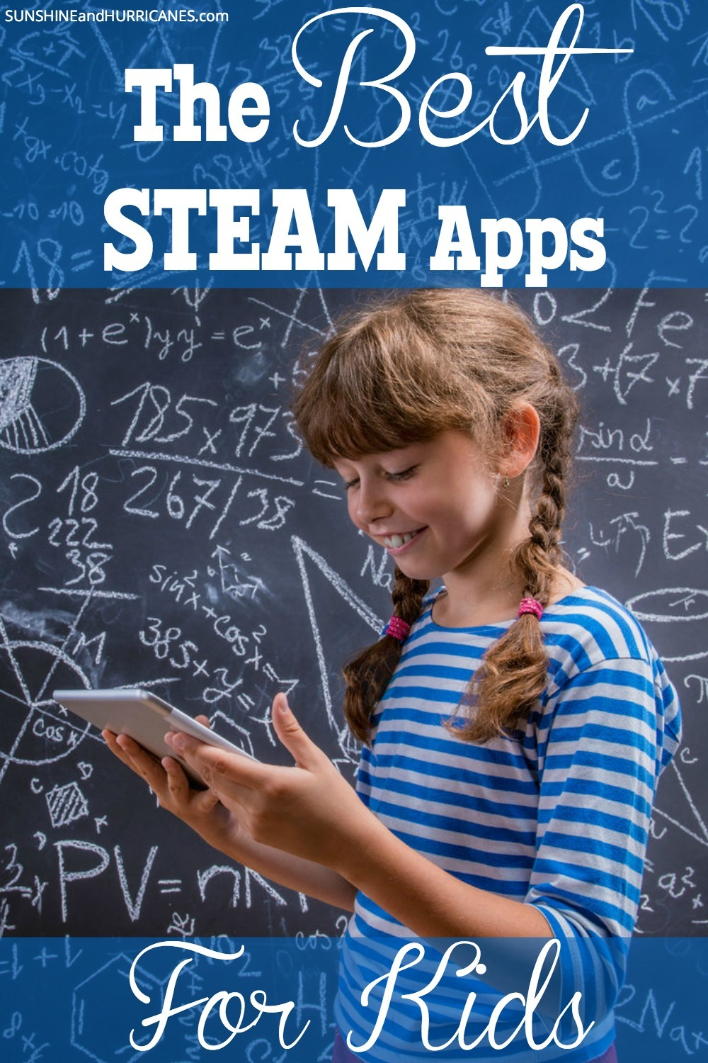 Looking for a way to make learning fun? STEAM (aka science, technology, engineering, arts and math) make up the core of your child's education. Help them excel in all areas by making the process enjoyable with these STEAM Apps. A great way to reinforce lessons as home and help them gain confidence in any of these subjects where they might be struggling. The BEST STEAM Apps for Kids. SunshineandHurricanes.com