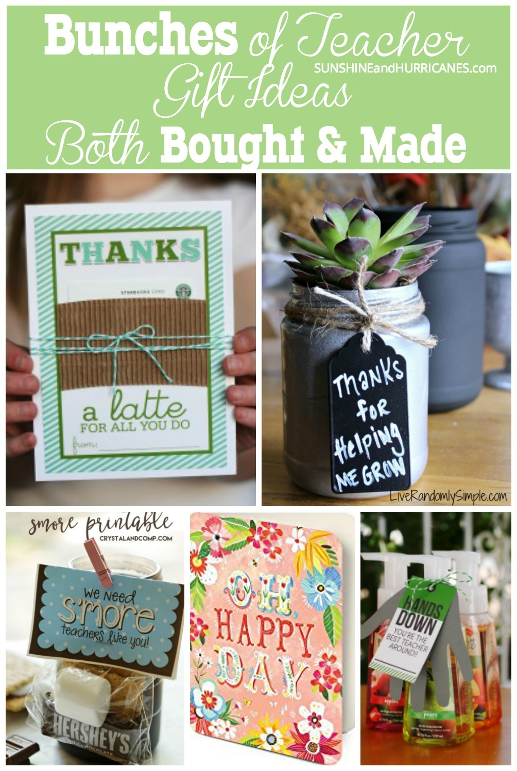 Not sure what to get your child's teacher as a teacher appreciation week gift or an end of year teacher gift? Here are ideas straight from a teacher that you can either buy or make, whichever suits your fancy.