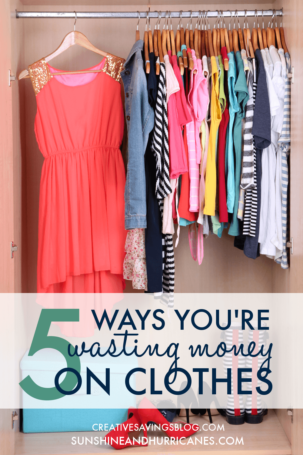 Whether you are all about style or you like to keep it simple, filling our wardrobes can be a big chunk of our spending. Even if you are a true fashionista, you may still be surprised to learn the ways you are wasting money on clothes. You can look stylish, while still be smart about money by following these frugal fashionista tips. 5 Ways You're Wasting Money on Clothes. SunshineandHurricanes.com