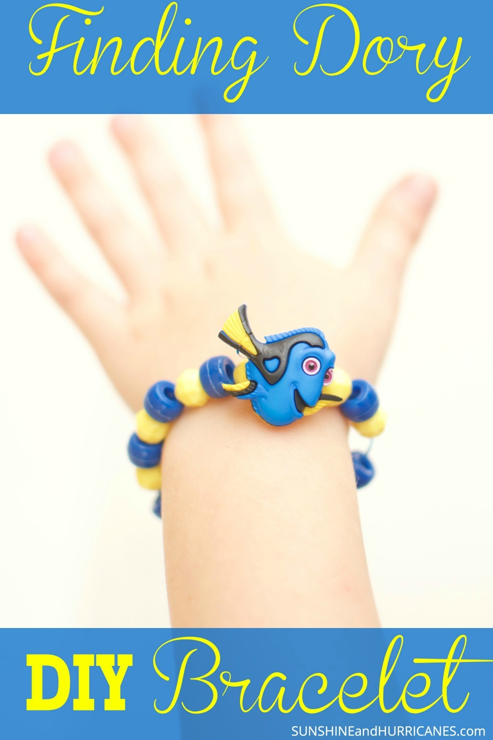Here's a super cute and super easy Finding Dory craft for kids. Use it as an activity for a themed Birthday Party or something to do on a rainy day. Finding Dory Bracelet from SunshineandHurricanes.com There is also a finding Nemo one too!