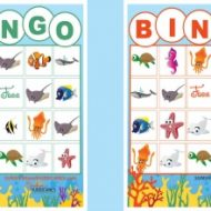 Finding Dory Games – Printable BINGO