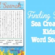 Finding Dory Kids Word Search