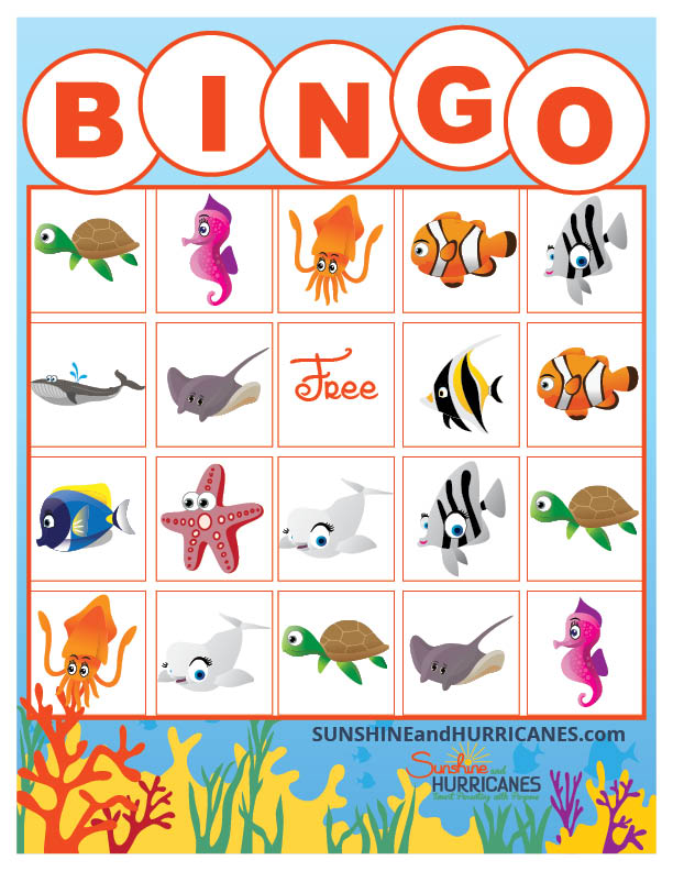 Finding Dory Games - Printable BINGO