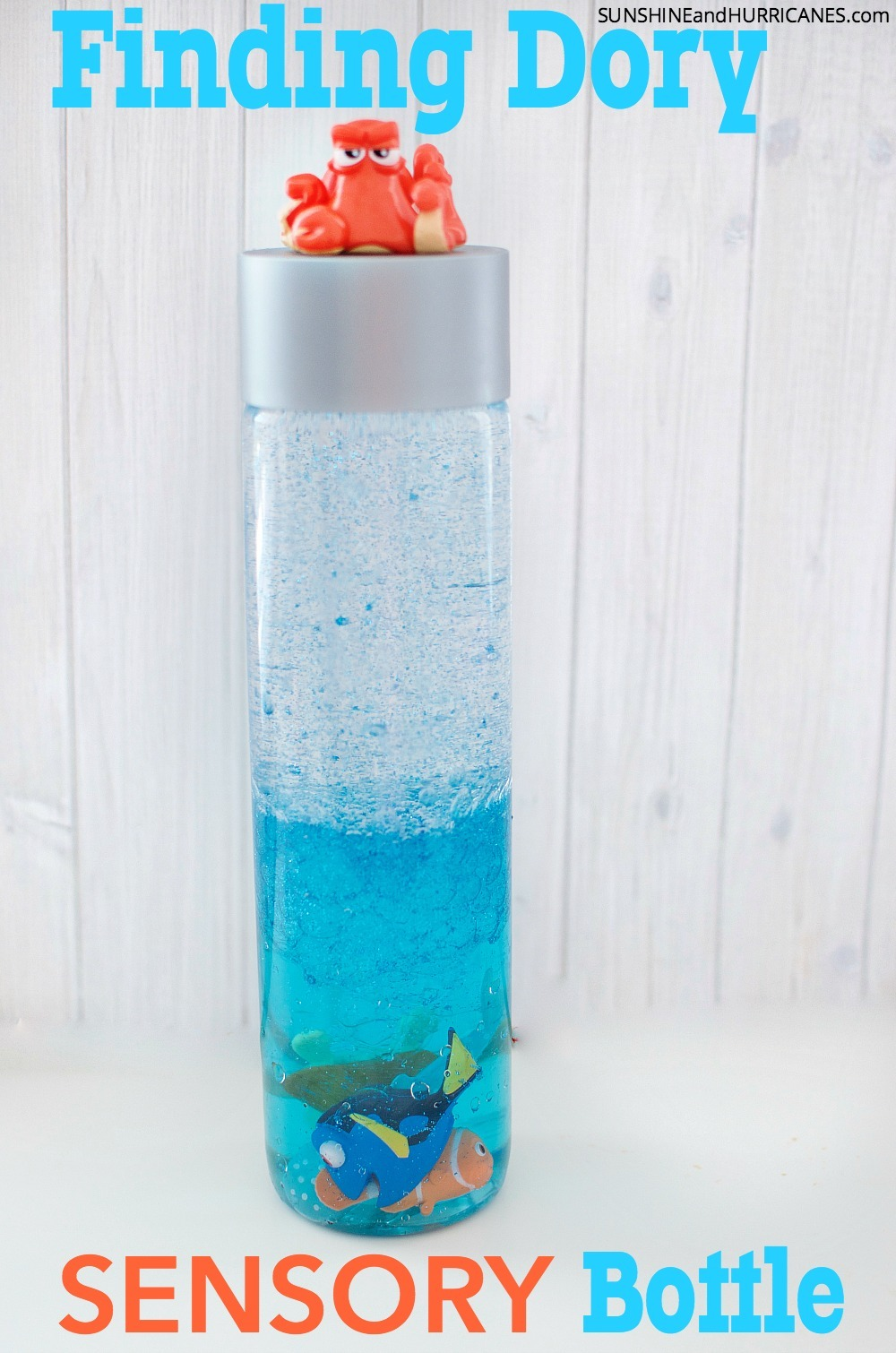 Finding dory sensory bottle for Finding dory crafts for preschoolers