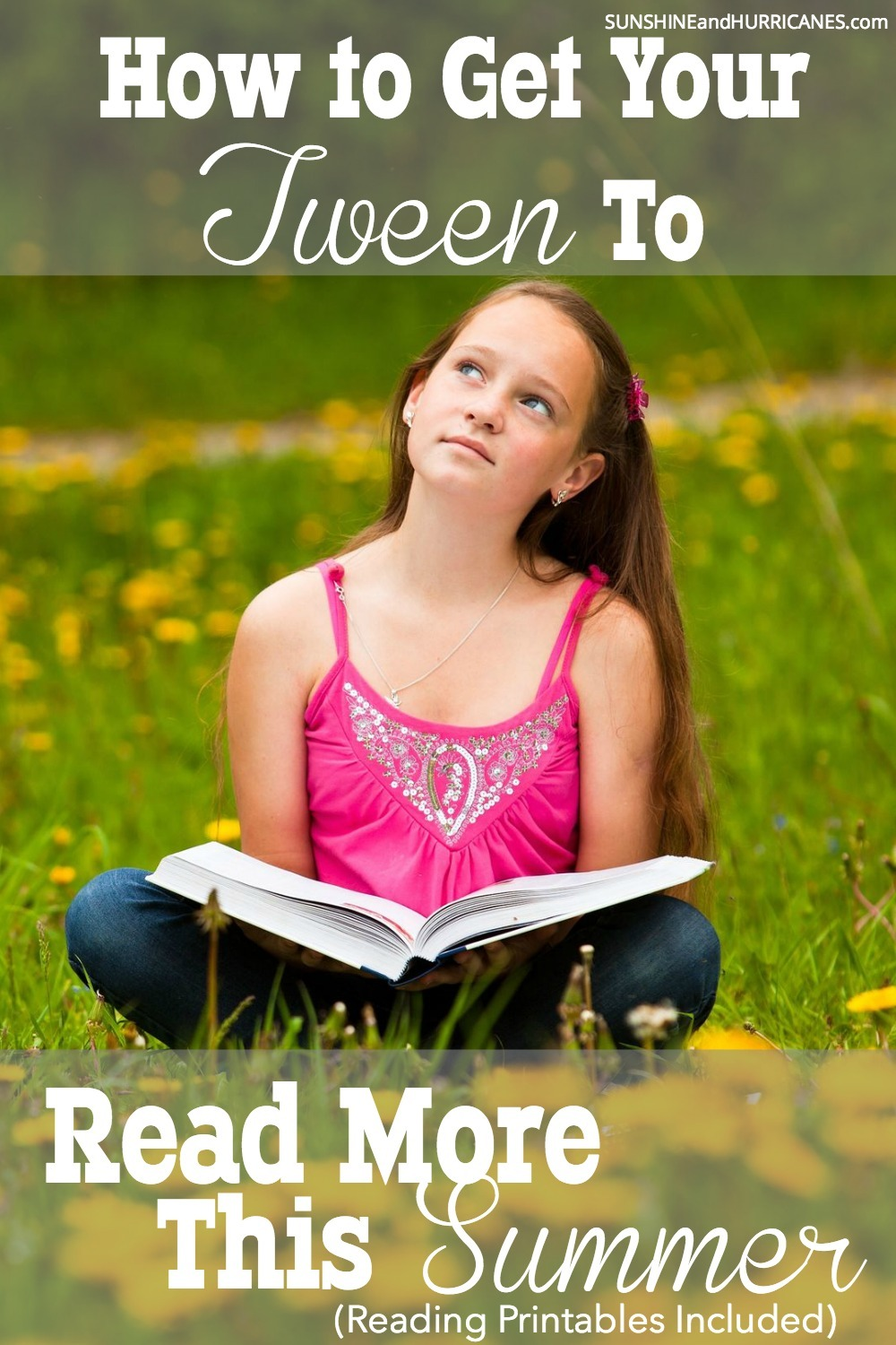 It can be hard to get kids to tear themselves away from screens during the summer, especially tweens and especially when you are trying to get them to read instead. Try this approach for motivating your reluctant readers and challenge them to a fun game with rewards they'll actually want to work towards. Summer Reading for Tweens, now to actually get your tween or teen to read more this summer! SunshineandHurricanes.com