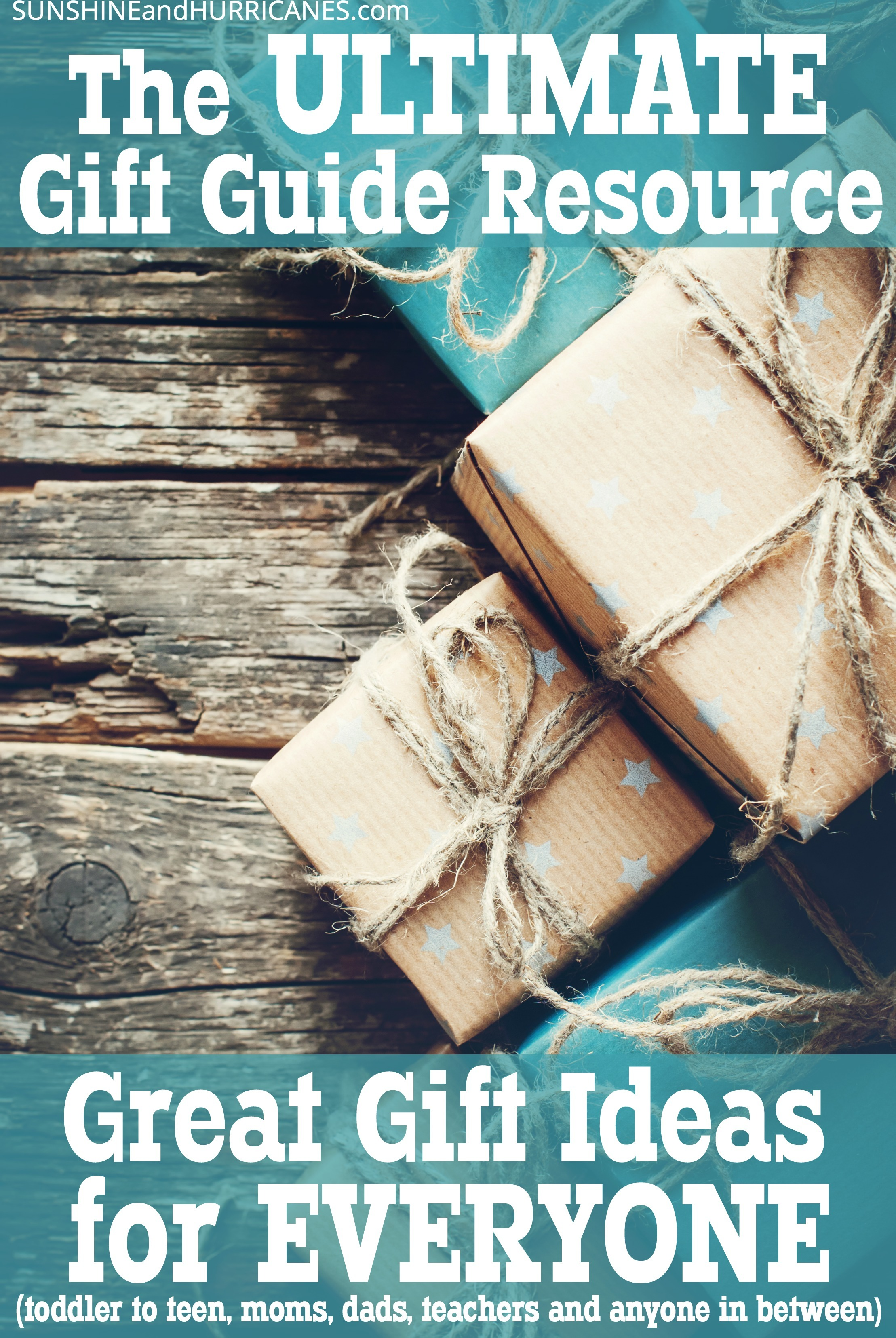 Whether you've got toddlers, teens or kids in between. Hard to buy for Moms, Dads or you just really want a meaningful teacher gift this year. You'll find unique, fun and affordable gift ideas in this master Gift Guide. There is something for everyone and we'll help you find it. Ultimate Gift Guide SunshineandHurricanes.com