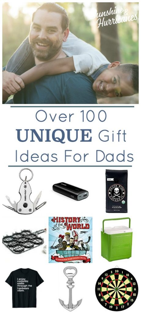 Over 100 Unique Gift Ideas for Dads Pin 1