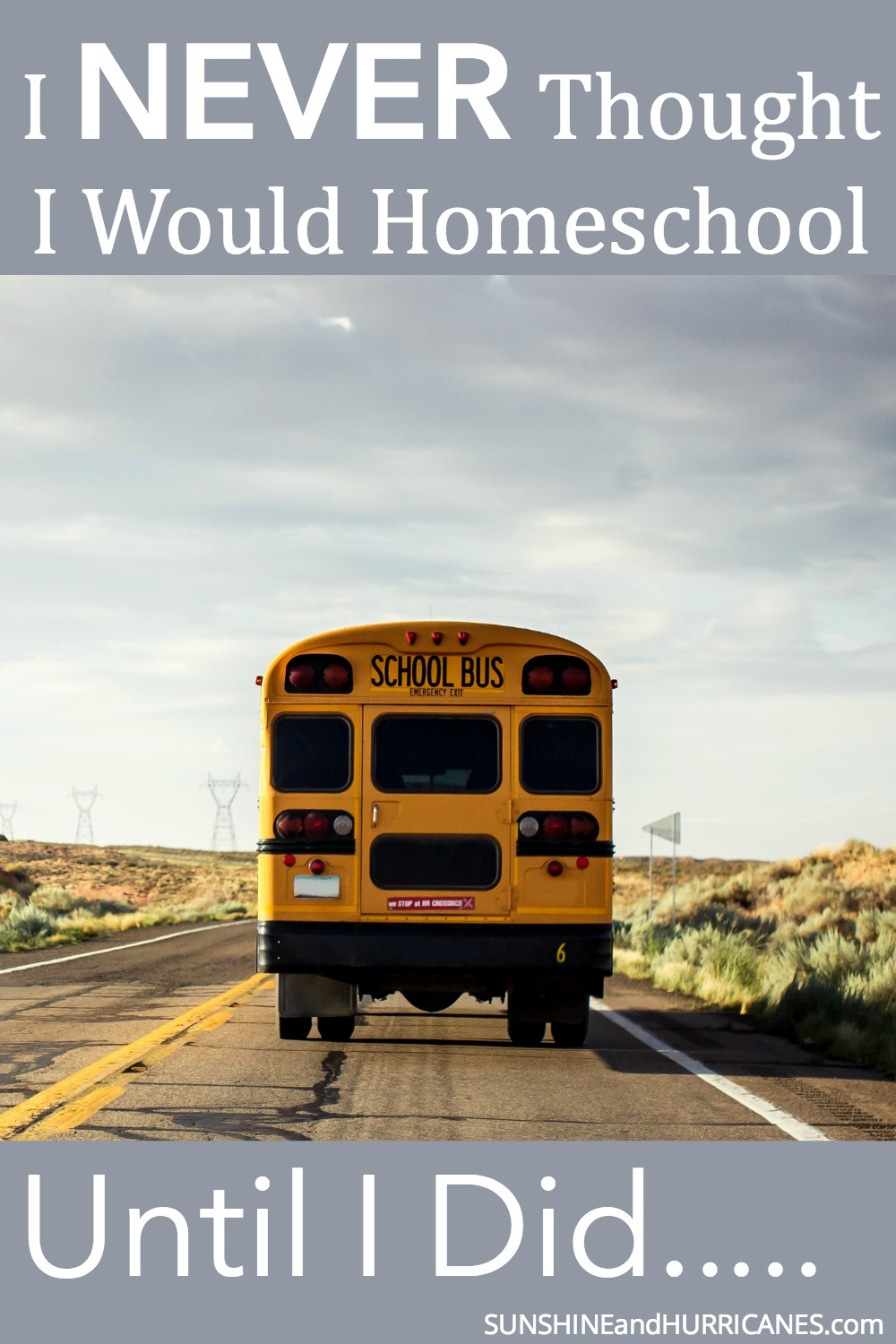 """Are you someone who says """"I Could Never Homeschool!"""" Well, that was me, right up until just a few days before we withdrew my middle school aged son and...you guessed it, started homeschooling him. It was something I NEVER thought I would do, but here is the why and the how in case you've been thinking about it seriously or like me, couldn't imagine it ever happening (but I've learned, never say never)"""