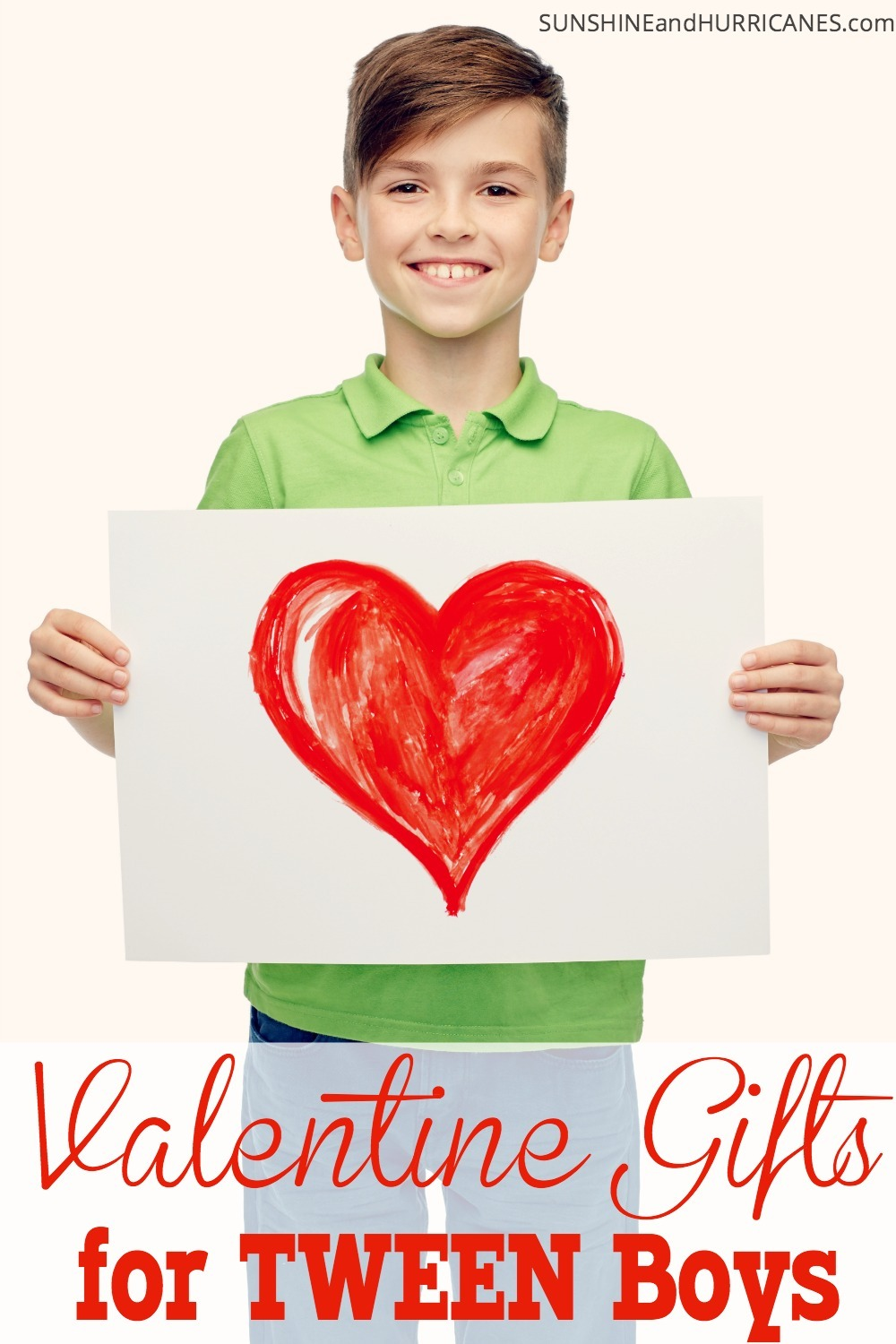 The days of matchbox cars and legos won his heart are fading, but you can still get a glimpse of that little boy smile with these small tokens of affection this Valentine's Day. Valentine Gifts for Tween Boys. SunshineandHurricanes.com