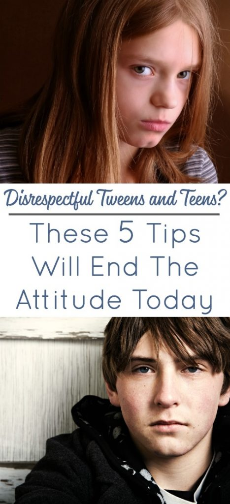 Disrespectful Teens and Tweens - 5 Steps To Stop The Attitude Today!