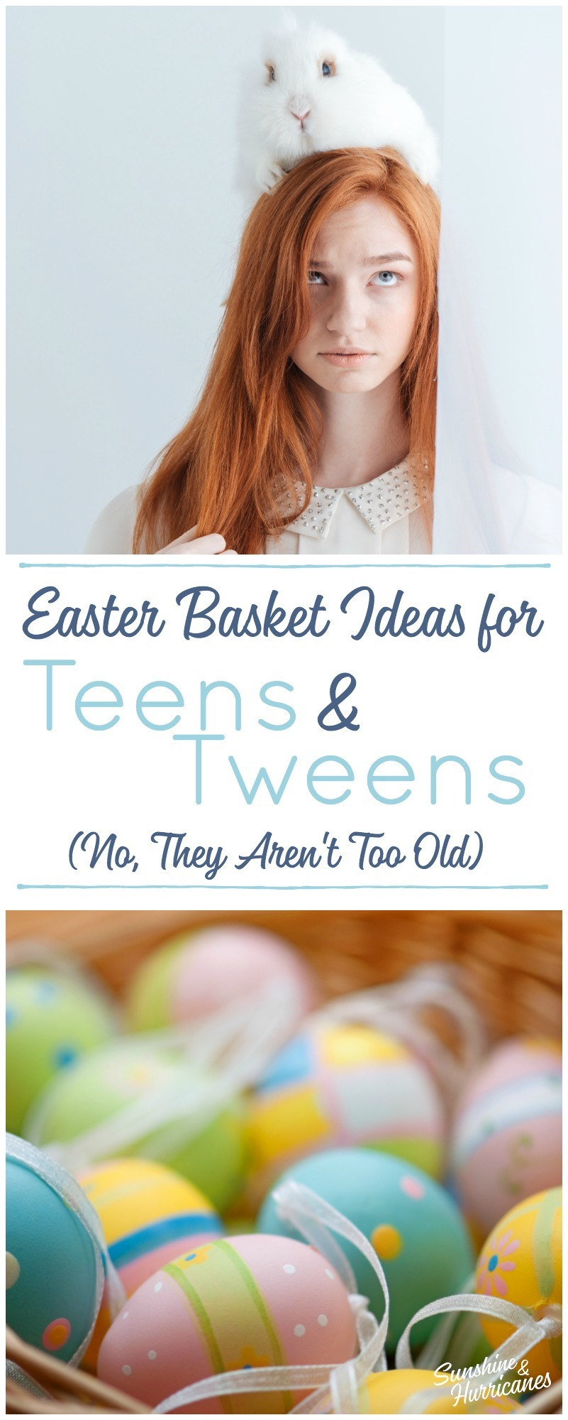 No they aren't too old. Creative, Clever and Cute Easter Basket Ideas for Your Tweens and Teens.