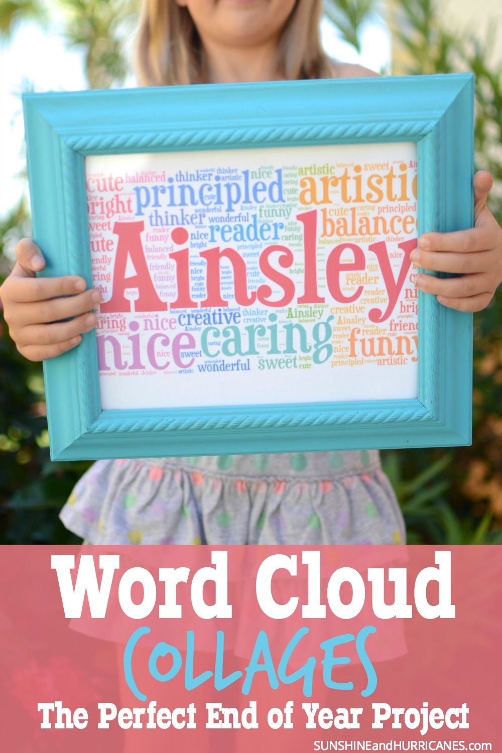 Looking for a fun and meaningful project for a kid's group? This word cloud collage is an easy, yet powerful, keepsake to make with older kids in a class, scout troop, youth group or even at a party.