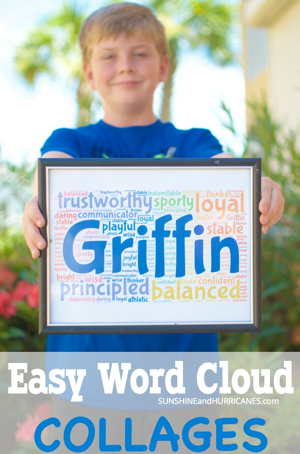 Word Cloud Collages are a super easy group activity that can help focus on character and kindness. Perfect as an end of year class project or for sports teams, scout troops and church youth groups. Word Cloud Collages from SunshineandHurricanes.com