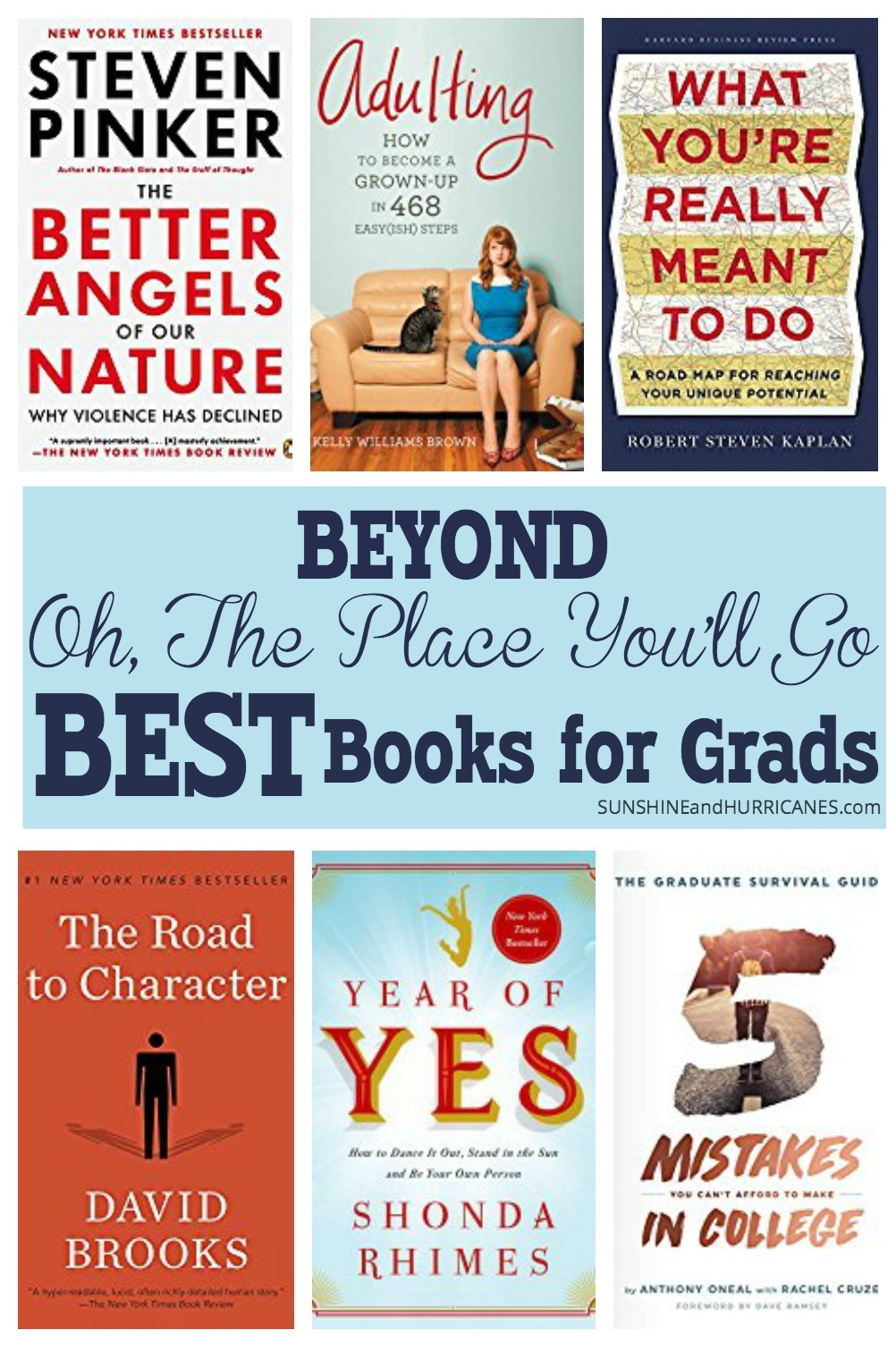 Be different and break out of the grad gift tried and true with these books that are better than All The Places You'll Go. Inspirational, Practical and Funny these are definitely the modern day best books for grads.