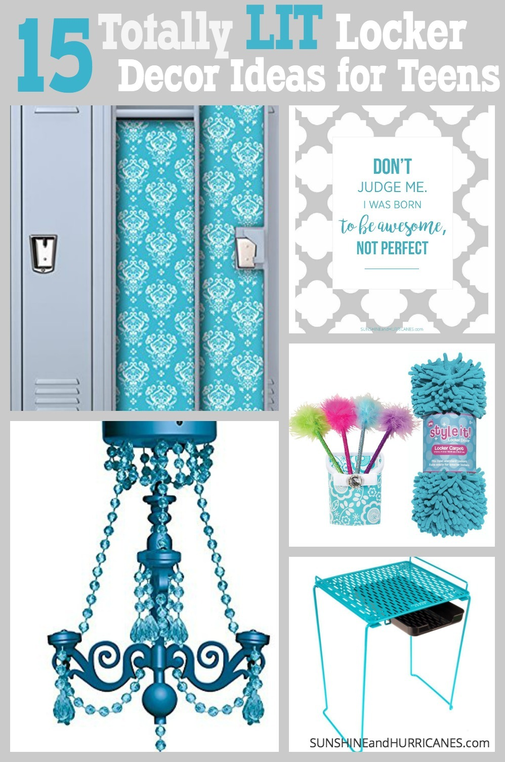 Express your personal style and tastes in your school space with these 15 LIT Locker Decor Ideas. SunshineandHurricanes.com