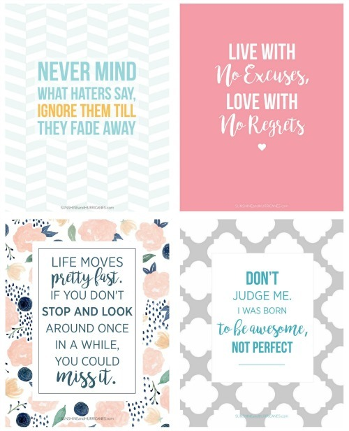 Printable quotes for teen. A perfect Locker Decor Idea for Teens or really any tween or teen space.