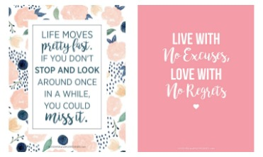Printable quotes for teen girls fun and totally free - Cool things to put in your room ...