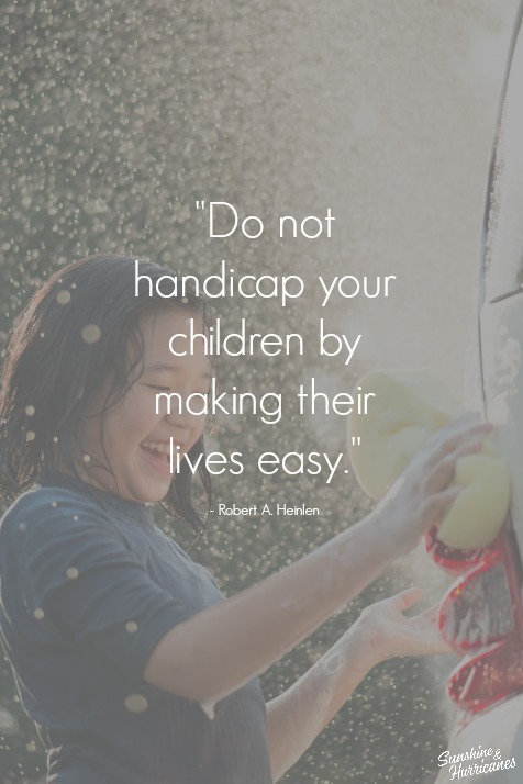Chores for children are important for so many reasons.
