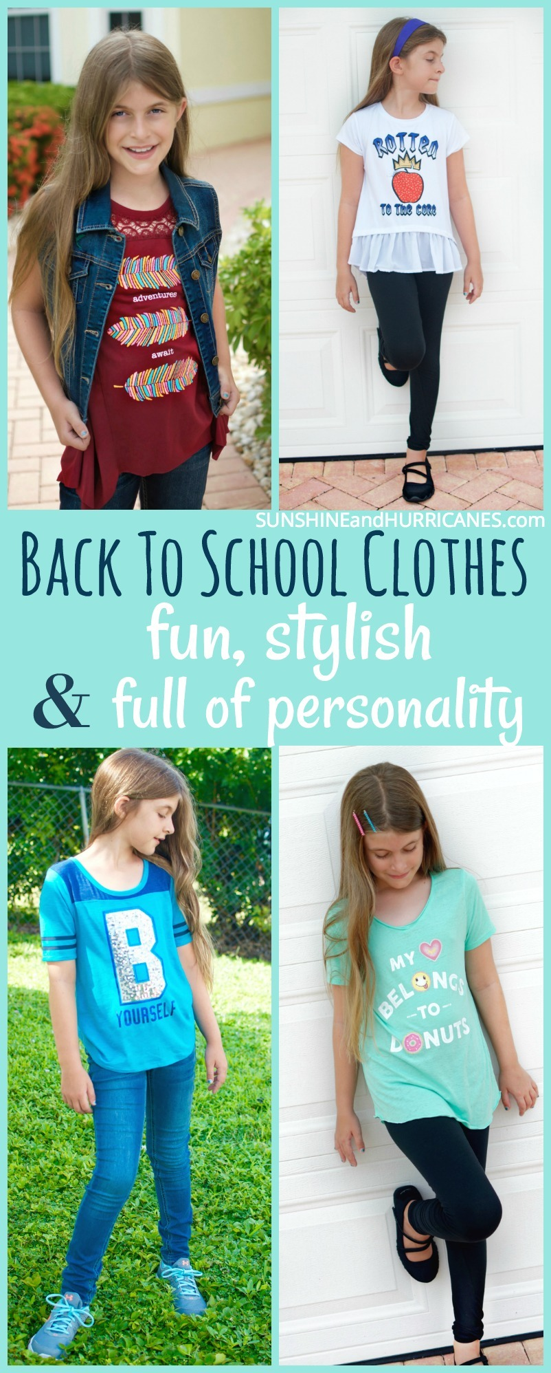 Simplify and save without sacrificing style when it comes to buying back to school clothes for kids. Build off of basics, add in a few trendy pieces and then mix & match for tons of fashionable outfit choices.