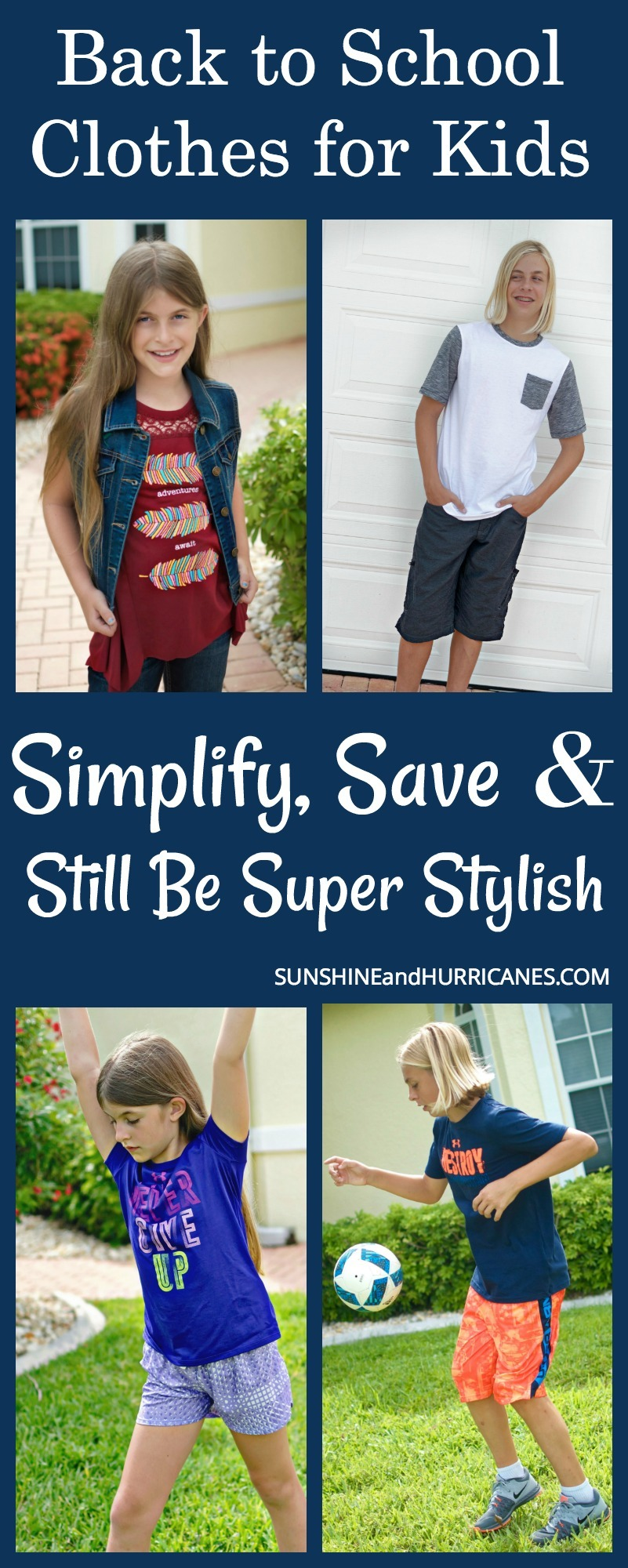 From sports fanatics to fashionistas and everything in between. You can save, simplify and still be SUPER stylish with these tricks and tips for back to school clothes for kids.