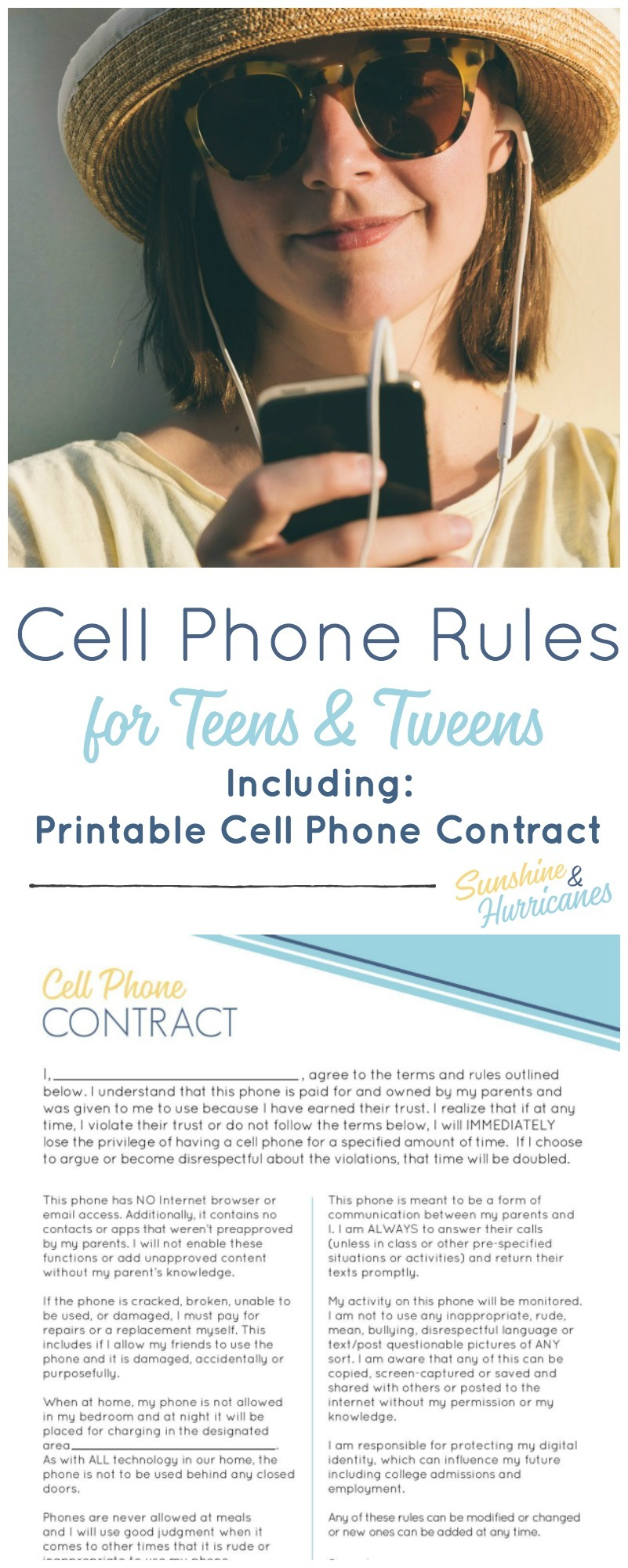 It's just an image of Crush Printable Cell Phone Contract for Tweens