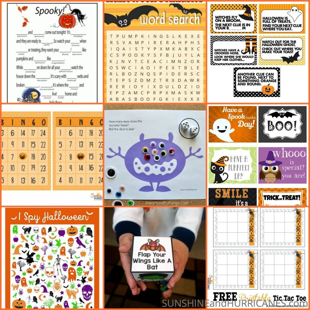 Halloween Printables - Cute to Creepy Fun For All Ages
