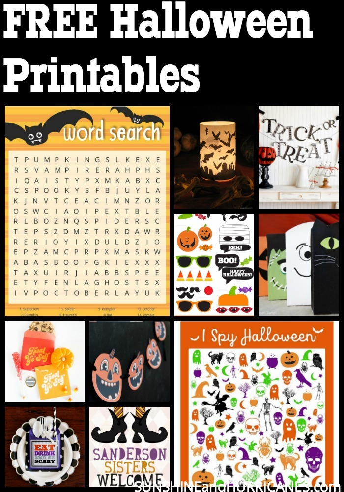 All the best free Halloween Printables for a party, decorating your home and a classroom Halloween party in one convenient place. Trick or Treat decor has never been so simple!