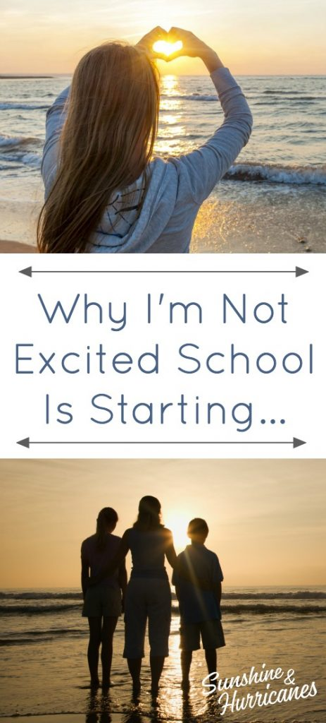 Why I'm Not Excited School Is Starting