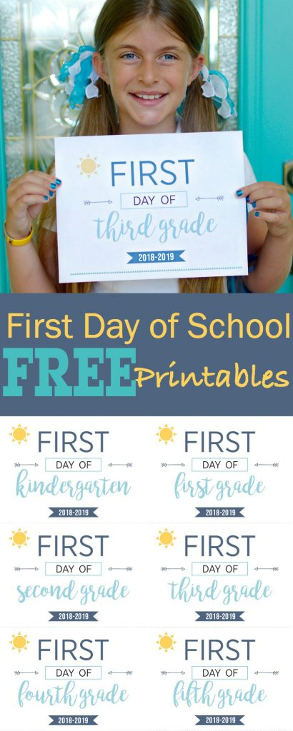 First Day of School Printables - Back To School Printable Signs