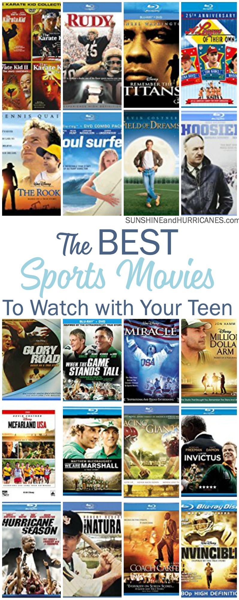 Plan some family time with your tween or teen athlete by scheduling a movie night and enjoying one of these inspirational sports movies for teens.