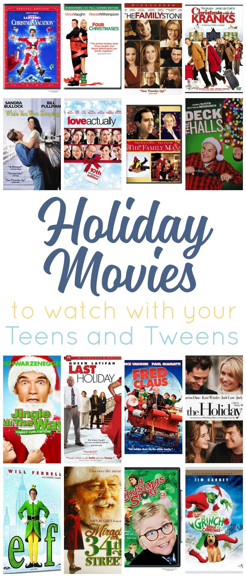 Holiday Movies for Teens and Tweens - No They\'re Not Too Old