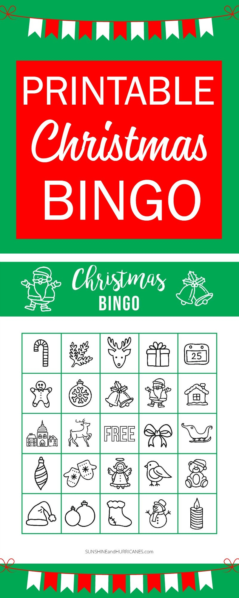 photograph regarding Holiday Bingo Printable named Printable Xmas BINGO - Getaway Video games for Youngsters