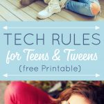Setting boundaries and teaching our teens and tweens how to use today's technology safely and wisely is a new parenting skill we all need in today's world. The first place to start is by setting tech rules for teens and tweens.