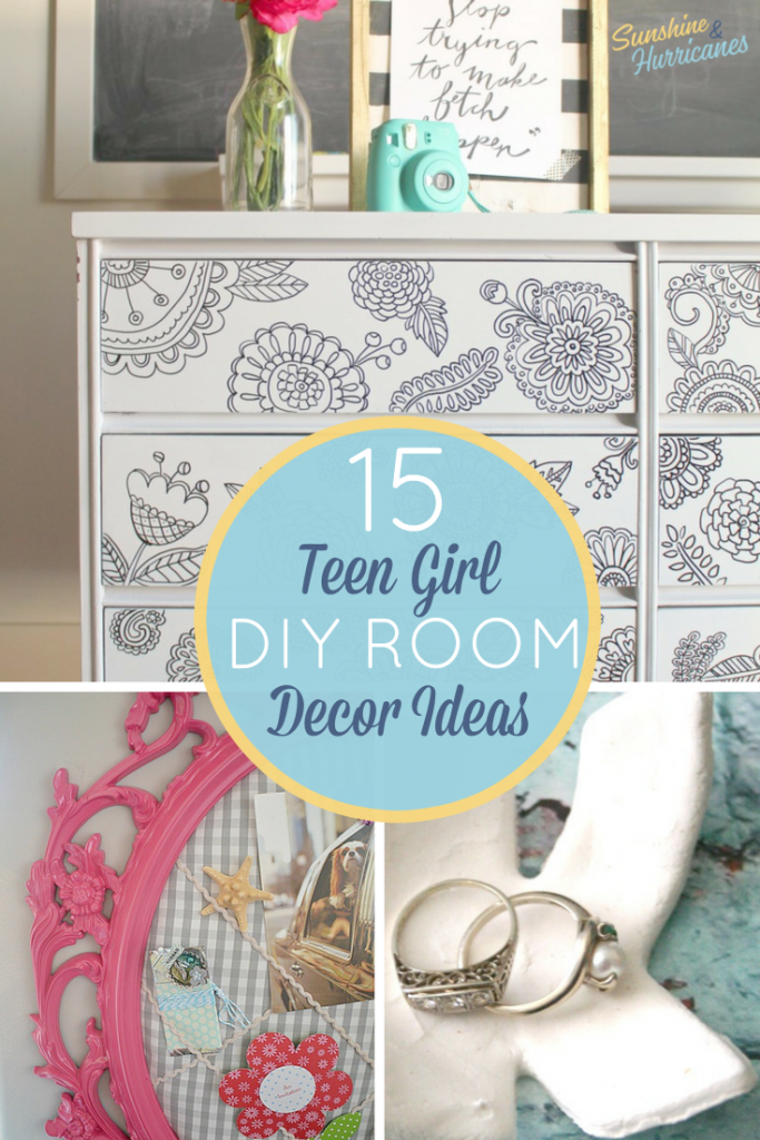 Teen Room Decor can be a bit tricky, especially when you have teen girls. So many ideas, but wow can it get expensive. Here are 15 DIY teen bedroom decor ideas that are stylish and fun and affordable.