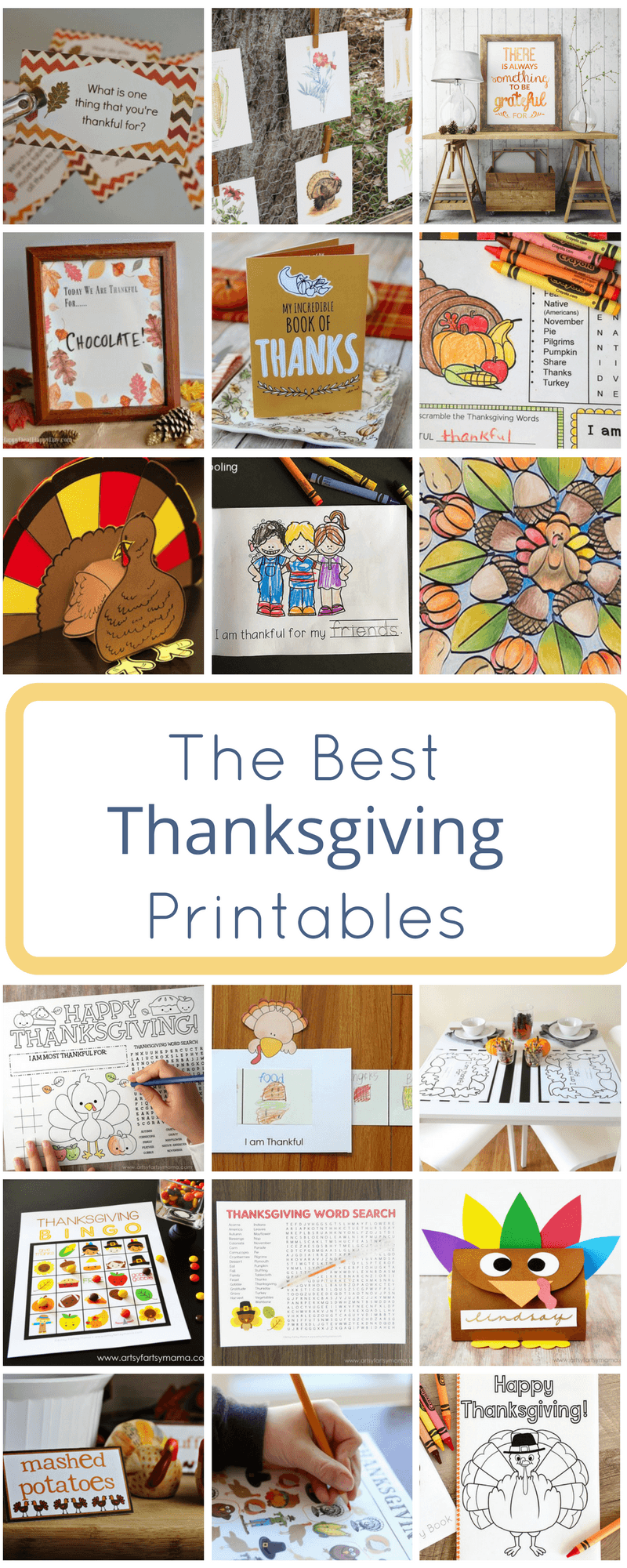 Thanksgiving Printables are a perfect way to add seasonal decor to your home, personalize your holiday table or just find fun holiday activities for the kids.