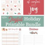 Joyful Holiday Printable Bundle