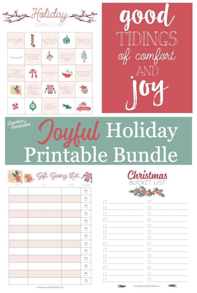 Joyful Holiday Printable Bundle