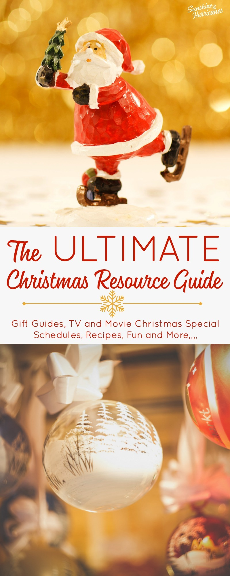 The Ultimate Christmas Resource Guide - Recipes, Traditions, Family Fun, Gift Guides, Christmas TV Special Schedules and More.