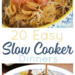 These 20 easy slow cooker recipes take dinner from difficult to done for busy families.