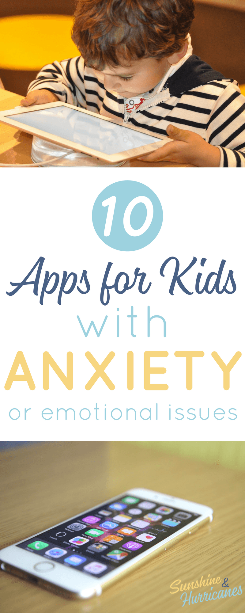 These 10 apps for anxiety can help your child calm down and learn and better manage their emotions. Anxiety in children is not only common, but a growing issue in the area of special needs. Anxiety Apps| Tools for Children with Anxiety| Resources for Children with Emotional Issues| Apps for Kids| Special Needs Apps